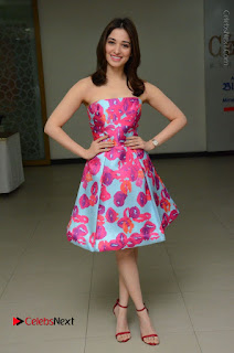 Actress Tamanna Latest Images in Floral Short Dress at Okkadochadu Movie Promotions  0152.JPG