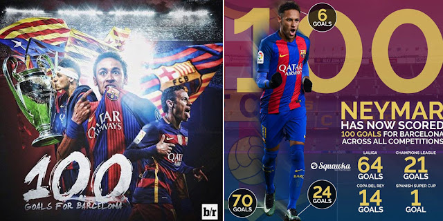 Meringkas 100 Gol Neymar di Barcelona - Link alternatif