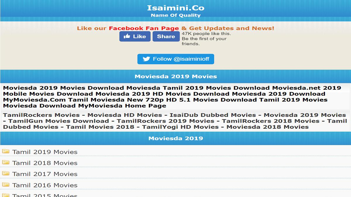 Isaimini tamilrockers