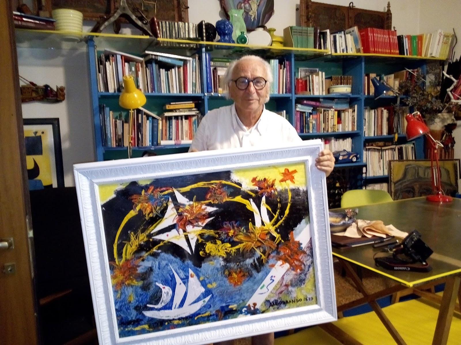 Aldobrando achille baratta quadro donato al sindaco di for Arredo sud messina