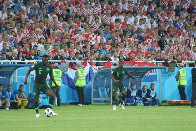 Etebo in action for Nigeria vs Croatia at