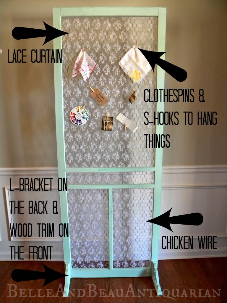 Belle & Beau Antiquarian: Use A Screen Door For An