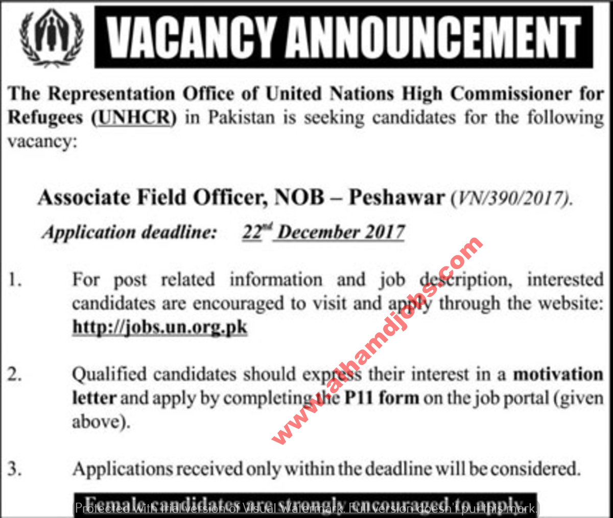 Jobs in United Nations Friday The News Newspaper 08 Dec,2017 ~ AL ...