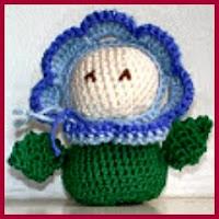 Flor feliz amigurumi