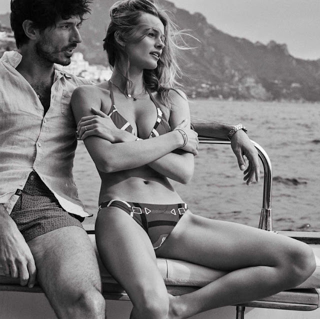 Fashion Editorial | Romantic Summer: Edita Vilkeviciute and Andrés Velencoso by Benny Horne for Vogue Spain.
