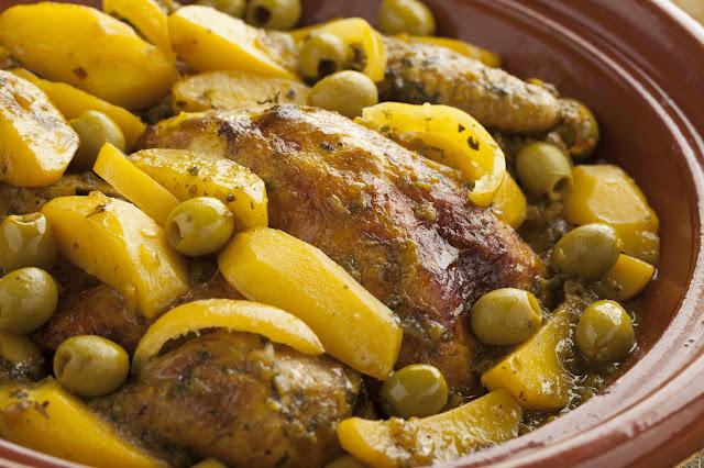 طاجين الدجاج بالبطاطس
