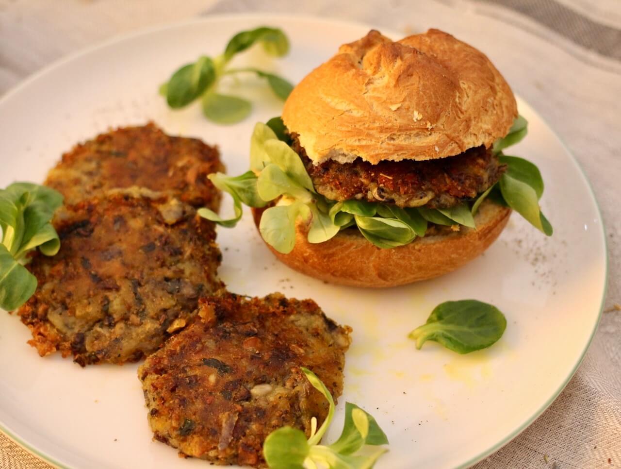 Rezept für vegane Kichererbsen Burger