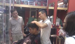 học cắt tóc nam, dạy nghề tạo mẫu tóc nam nữ tại hà nội