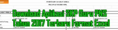 Download Aplikasi SKP Guru Excel Terbaru versi 2017