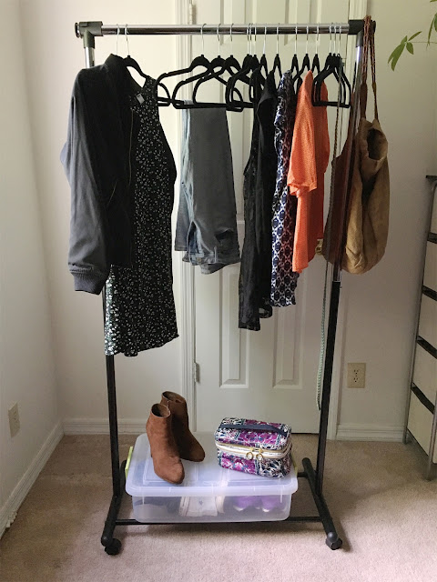Organize your closet in an afternoon with a garment rack from TidyLiving.com  #ad