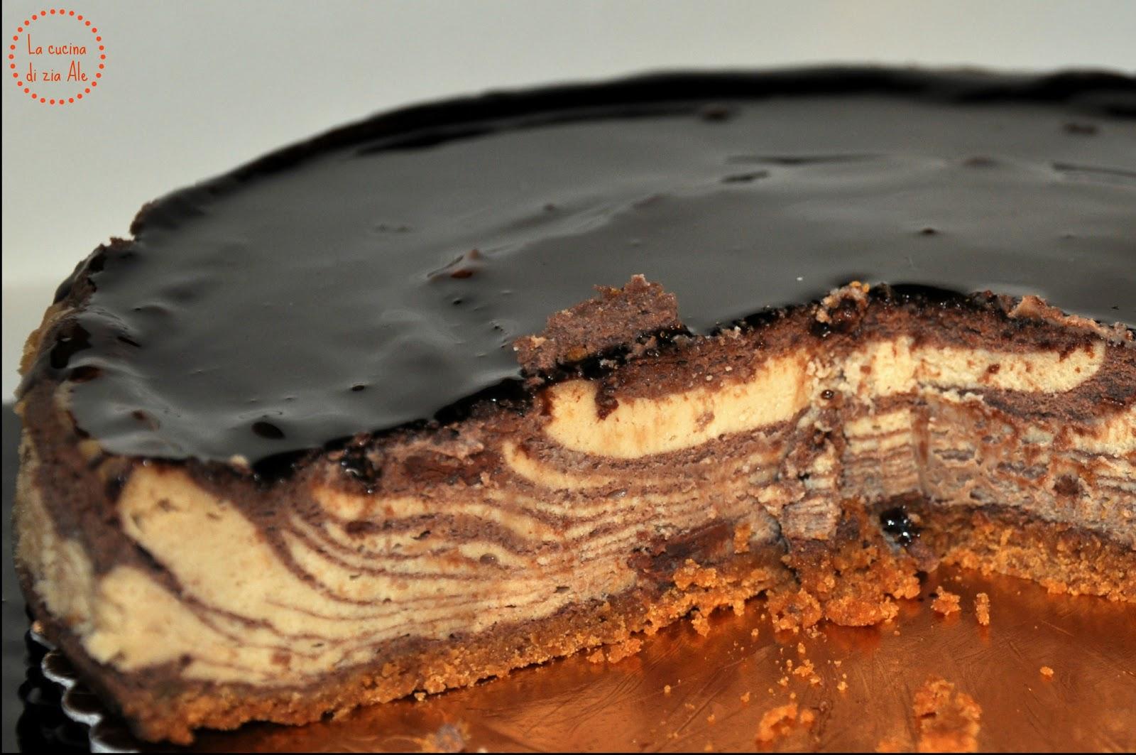 Preferenza Cheesecake al cioccolato e burro di arachidi | La cucina di zia Ale GG99