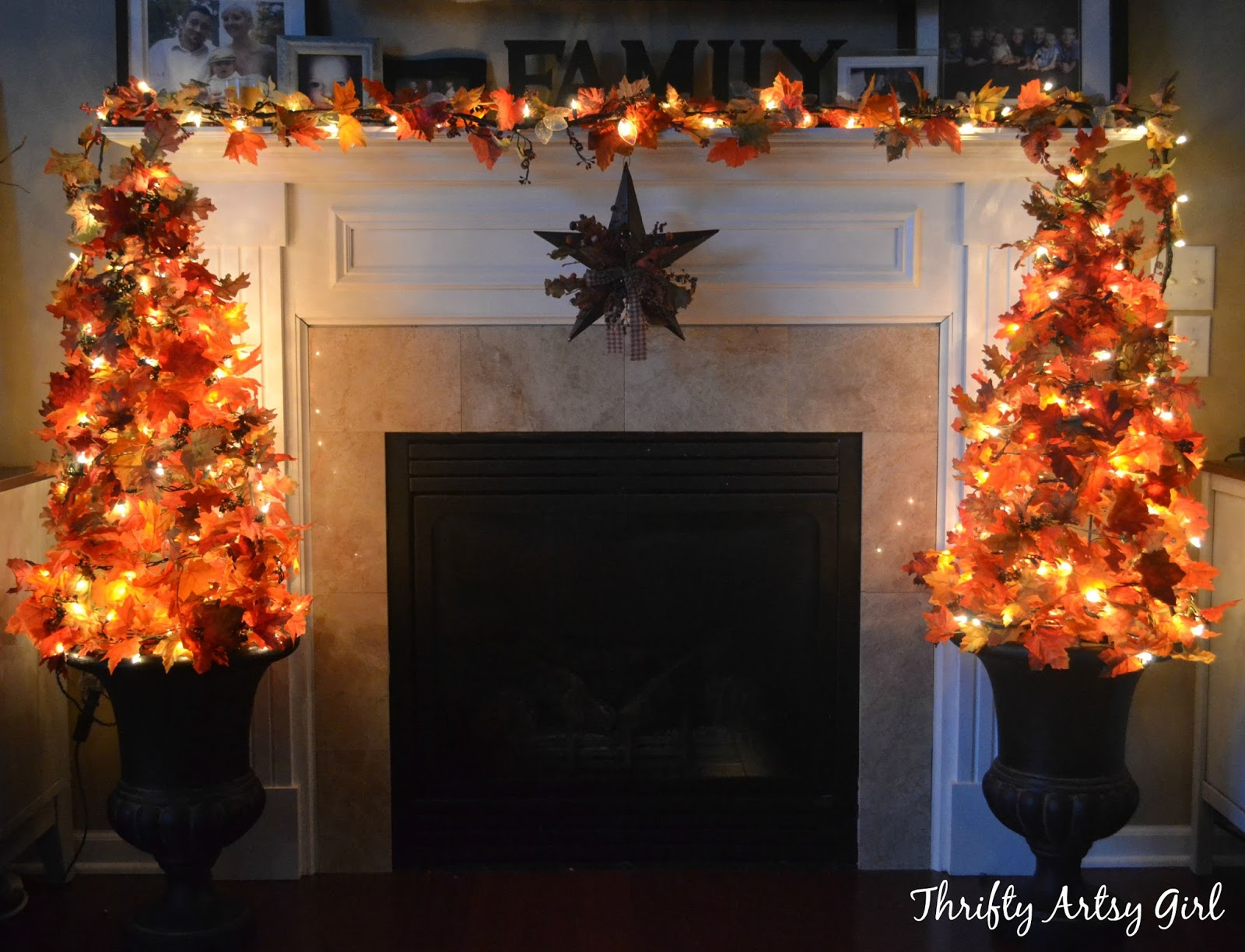 Thrifty Artsy Girl Easy Diy Fall Leaves Potted Topiary Tree From A
