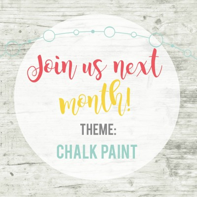 Inspire My Creativity August Theme Chalk Paint