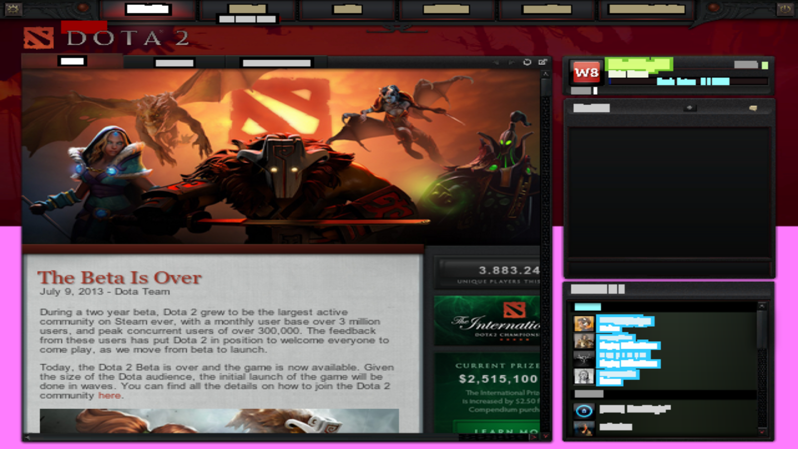Dota 2 Test Available For Linux [Steam] | Being Hacked