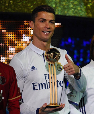 Cristiano Ronaldo wins best player of the tournament award as Real Madrid win FIFA Club World Cup (photos)