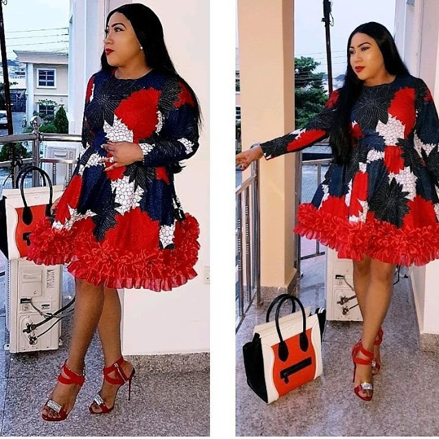 Stylish Ankara Short Gown Styles For Nigerian Ladies