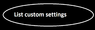 List custom settings
