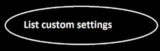 List custom settings
