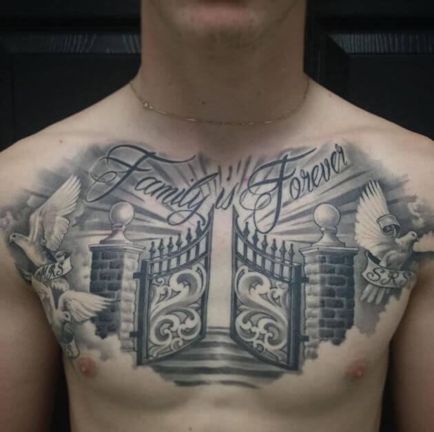 Family Tattoo on chest