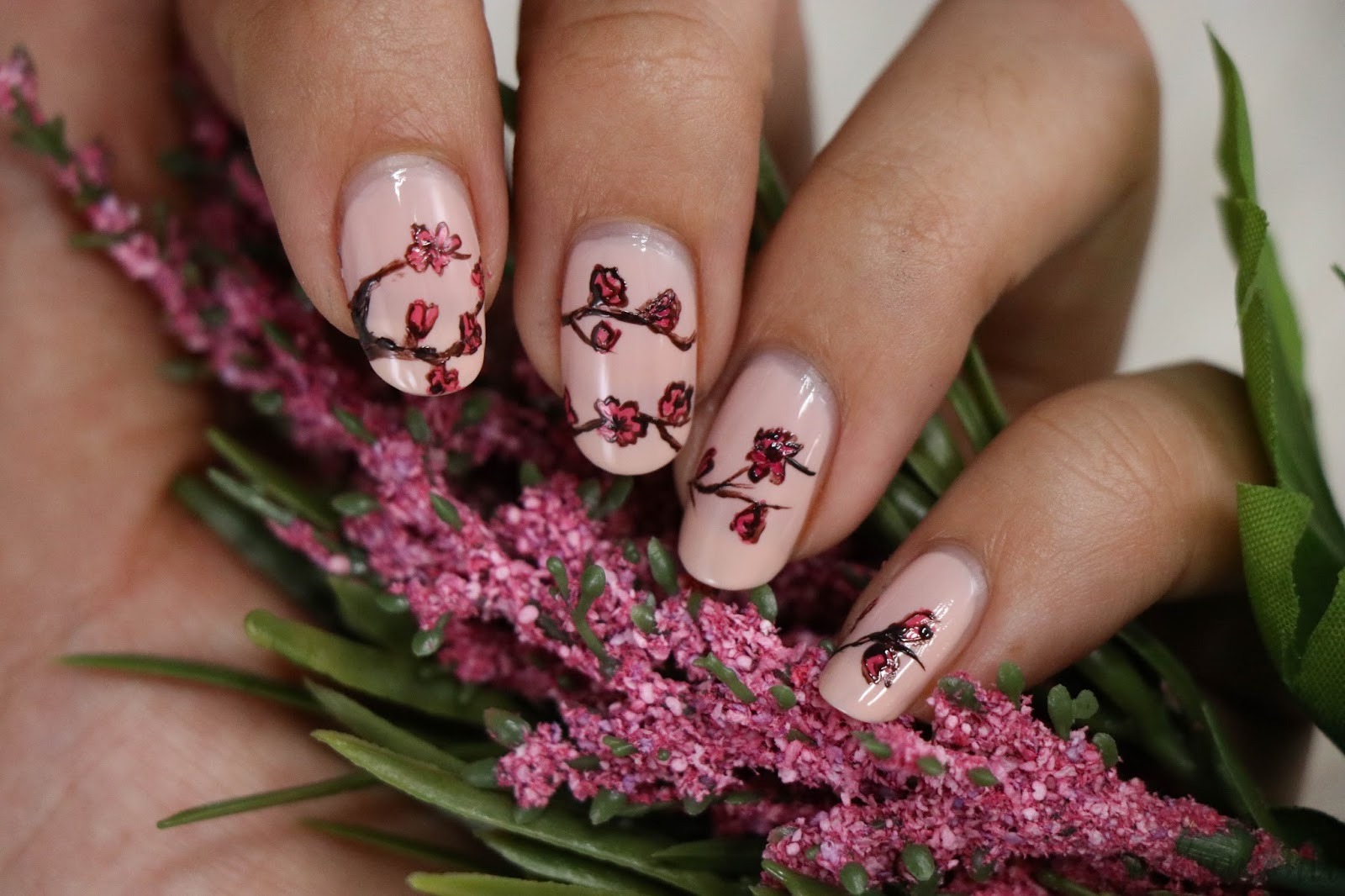 Cherry Blossom Nail Art 🌸 - JACKIEMONTT