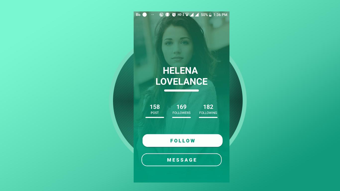 Profile Screen Design 2018 - Android Studio UI Tutorial