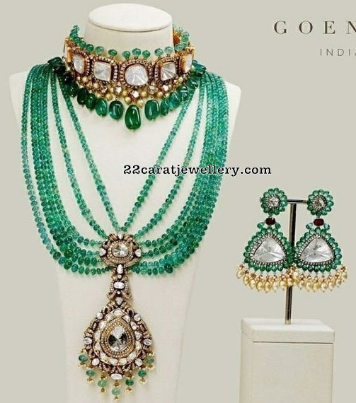 Emerald Beads Haaar by Goenka Jewells