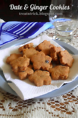 Date & Ginger Cookies @ treatntrick.blogspot.com