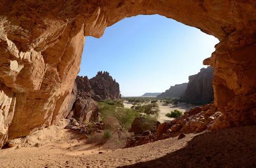 """Entrada do Guelta d""""Archei - Chade"""