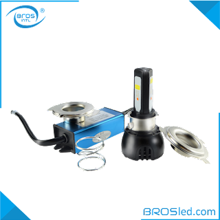 BROSled.com BMHAC3B4429H4-40F LED Motorcycle H4 P15D-25-1 BA20D Hi-Lo Beam Headlight Bulb Conversion Kit with Fan AC 9-30V 6000K COB 4400LM 2900LM 40W (2)