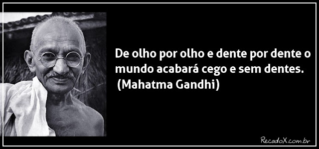 Pensamento pacifista do Barão plagiado do Mahatma Gandhi