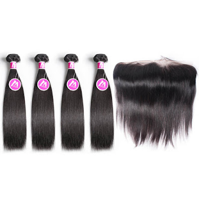 6A 4 Bundles With Frontal Deal Brazilian Hair Straight Hair–Price:$131.91 /piece (45%off)