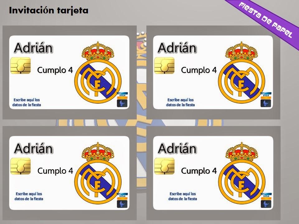 Fiesta De Papel Ki 110 Kit Imprimible Y Editable Real Madrid
