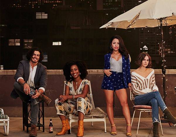 An image of the Freeform show, Good Trouble's central cast