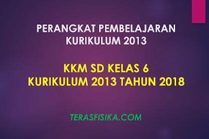 Download KKM SD Kelas 6 Kurikulum 2013 Revisi 2018