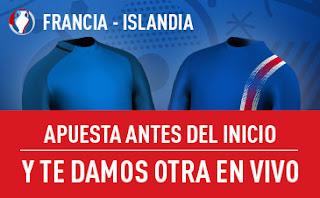sportium promocion Francia vs Islandia Eurocopa 3 julio