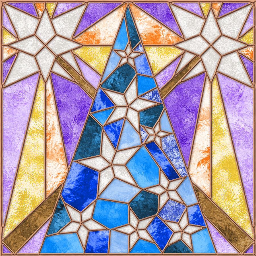 Wizard stained glass