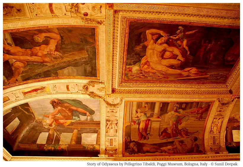 Story of Odysseus by Pellegrino Tibaldi at Palazzo Poggi of Bologna, Italy - Image by Sunil Deepak