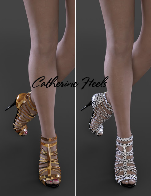 Catherine Heels for Genesis 3 Female
