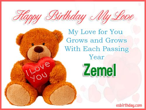 Zemel Happy Birthday My Love