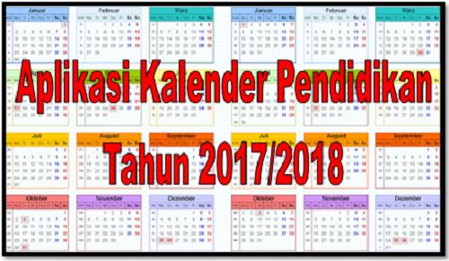 Aplikasi Kalender Pendidikan Tahun 2017/2018