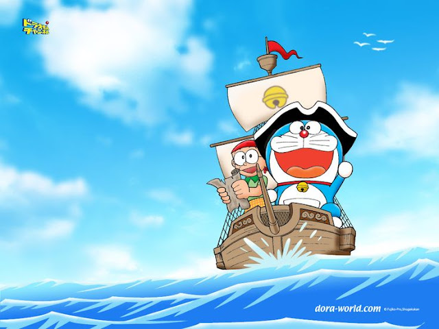 Doraemon Boating HD Wallpapers