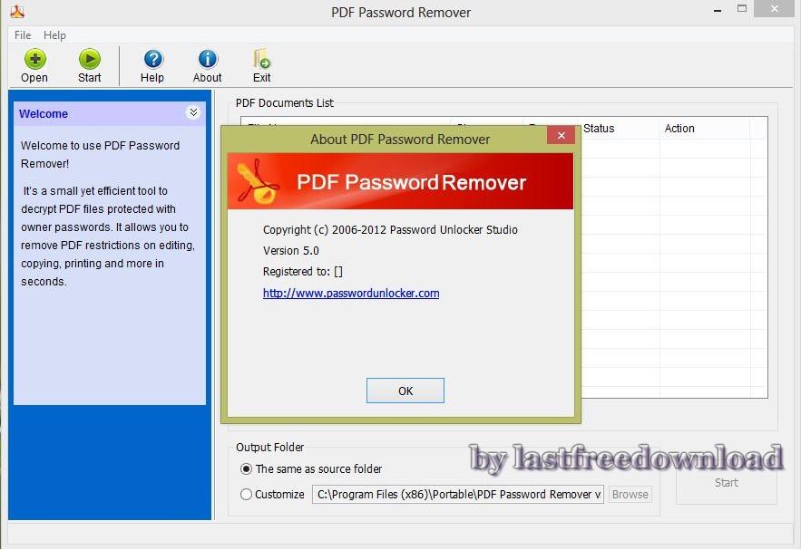 Download PDF Password Remover 5.0 Full Version - Resposive Blogger Template