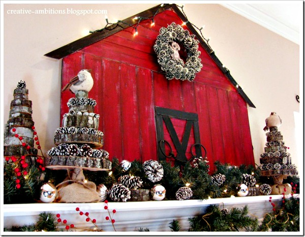 Christmas Barn Mantel from Creative Ambitions