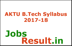 AKTU B.Tech Syllabus 2017-18