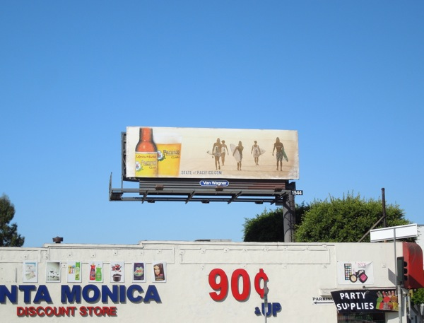 Pacifico beer surfer billboard