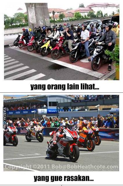 Pengendara Motor Di Indonesia Memang Unik. Ini Buktinya!