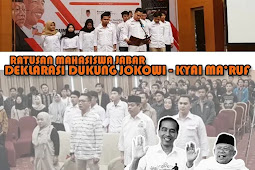 Wow...Luar Biasa! Ratusan Mahasiswa di Jabar Deklarasi Dukung Jokowi-Ma'ruf Amin. Alasannya Bikin Kagum!