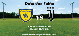 Data dan Fakta Liga Fantasia Serie A Chievo vs Juventus Fantasi Manager Indonesia