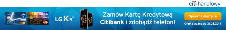 Telefon LG K8 LTE do darmowej karty Citibank Simplicity