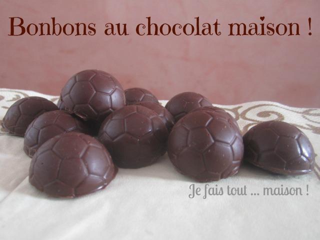Chocolats fourrés à la ganache noire et fleur de sel